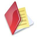 folder documents red icon